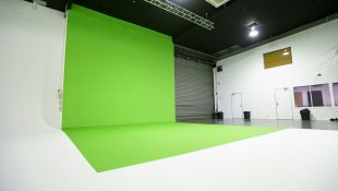 Green screen at our custom built film studio