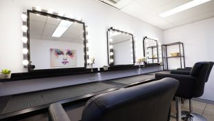 Makeup room at Tasty Studios, a custom built film studio